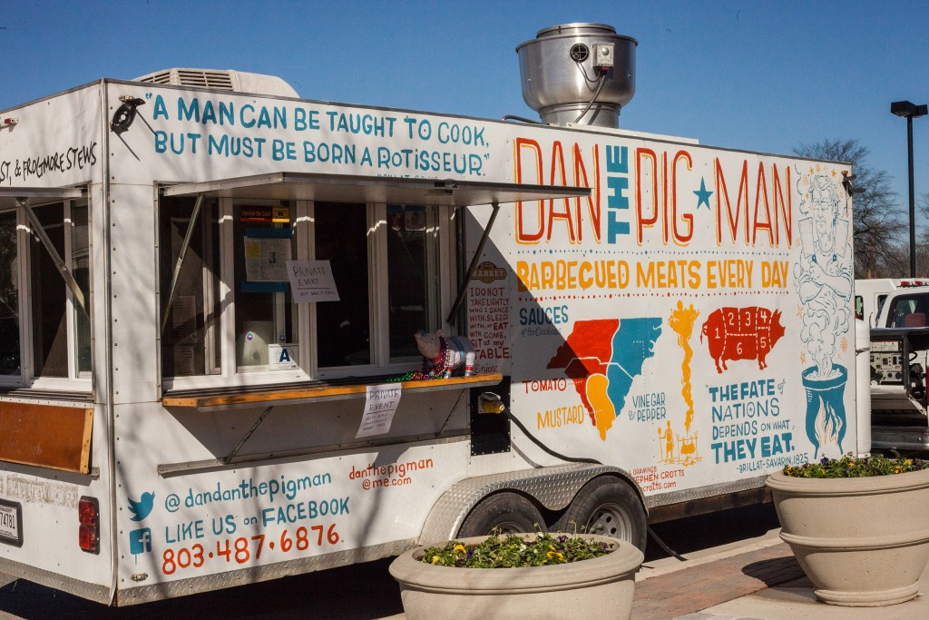 Dan the Pig Man food truck. Mobile catering